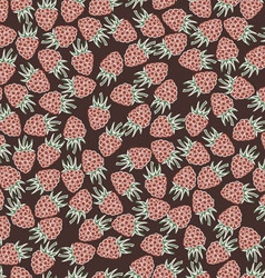 Beautiful seamless pattern with raspberries vector image