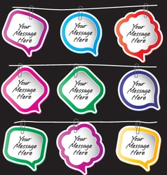 Message Notes vector image