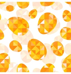 Orange diamond eggs seamless pattern vector image vector image