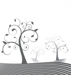 stylized trees vector image vector image