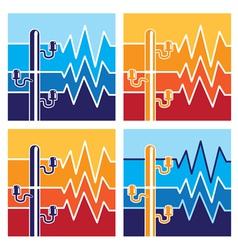 symbols of high voltage vector image vector image