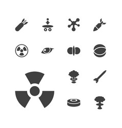 13 atomic icons vector