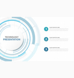 Abstract blue circle digital technology template vector