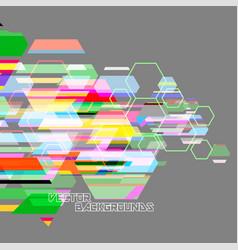 Abstract hexagon colors wallpaper on a gray vector
