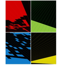 abstract vertical banner vector image