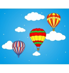 Air balloons and clouds wallpaper vector