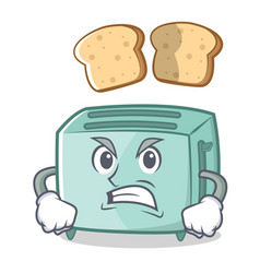 angry toaster character cartoon style vector image