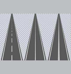 asphalt road with markings set of highway vector image