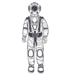 astronaut cosmonaut in a space suit and helmet vector image