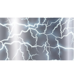 Background design with thunders in gray sky vector