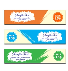 banner brush paint vector image