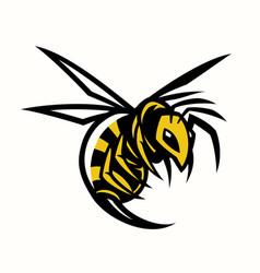 bee hornet wasp mascot vector image