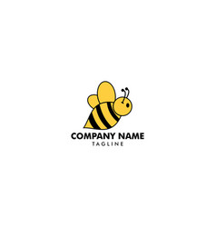 bee logo icon template vector image