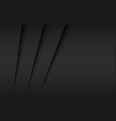 Black and grey modern material design overlap vector