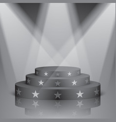 black scene with white stars and lighting vector image