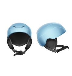 Blue protective helmet vector