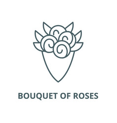 bouquet roses line icon linear concept vector image