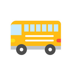 bus simple transportation icon flat design vector image