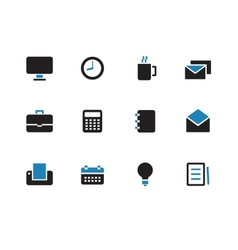 Business duotone icons on white background vector
