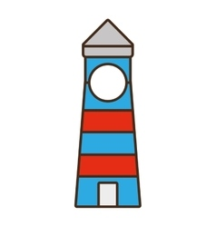 cartoon lighthouse building vector image