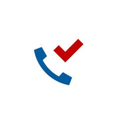 check call logo icon design vector image