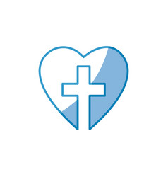 christian cross icon vector image