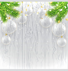 Christmas banner with glass toys vector