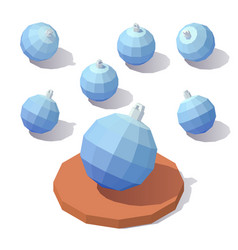 Christmas toy blue ball vector