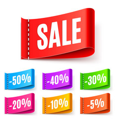 color sale tags vector image