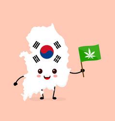 cute funny smiling happy south korea vector image