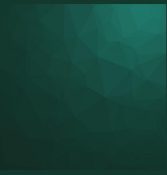 Dark ocean green polygonal background vector