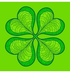 Decorative lucky clover leaf vector image