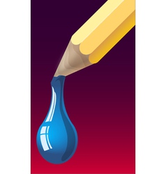 Dripping pencil vector