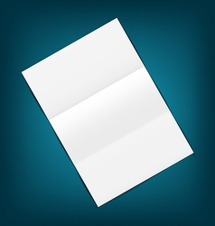 Empty paper sheet with shadows on blue background vector