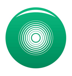 Equalizer radio icon green vector