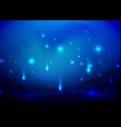 Falling lights in darkness vector