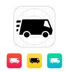 Fast delivery Minibus icon vector image