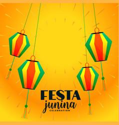 Festa junina decorative hanging lamps festival vector