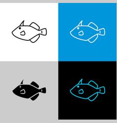 filefish icon line style symbol filefish vector image