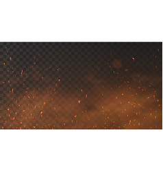 Fire sparks background vector