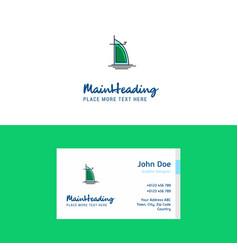 flat dubai hotel logo and visiting card template vector image