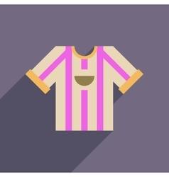 Flat web icon with long shadow football shirt vector