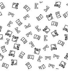 furniture of apartment seamless pattern vector image