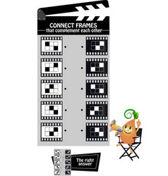 Game connect frames vector