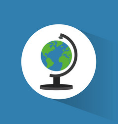 globe world travel icon vector image