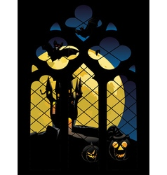 Gothic Window and Moon2 vector