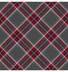 Gray red diagonal check plaid seamless pattern vector
