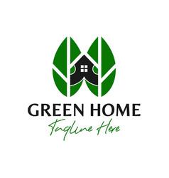 Green house inspiration logo design vector
