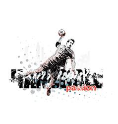 Handball background vector