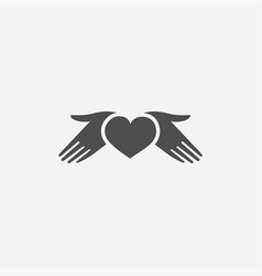heart hands icon vector image
